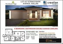 4 BED, 2 BATH, DOUBLE GARAGE $369K STRINGYBARK AVENUE, WALLAN Wollert Whittlesea Area Preview