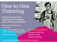 One to One Tutoring for School SQA Higher Art and beyond at the Drawing and Painting Studio