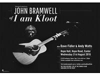 John Bramwell (I Am Kloot) at Hope Hall Exeter