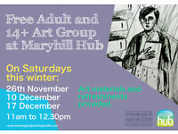Art Group for Adults at Maryhill Hub, Glasgow