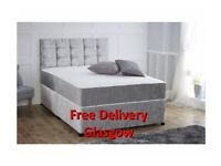 velvet crushed double bed set