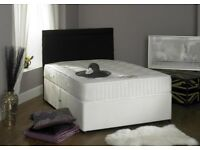 1000 pocket sprung set- brand new double divan bed base with 1000 pocket sprung mattress -
