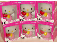 """1 or a Box of 6 HELLO KITTY LARGE 7"""" LED MOOD LAMPS 7 DIFFERENT LIGHT COLOURS BNIB LOOK PINK CAT"""