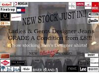 Designer jeans at Nutts corner market every sunday!! new/used ladies/kids & mens clothing!!
