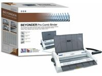 COMB BINDER- 21 PIN 20 PAGES PER PUNCH MAXIMUM . IN AS NEW CONDITION