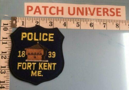 VINTAGE FORT KENT MAINE  POLICE  SHOULDER PATCH     F008