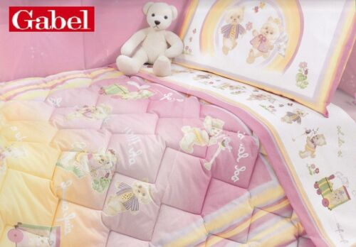 Quilt, winter duvet 320 gr + Bumpers Crib/Cot GABEL, RAINBOW