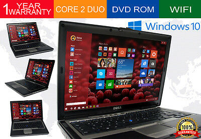 Dell Laptop Latitude Windows 10 Core 2 Duo 4Gb Ram Dvd Wifi Computer Win 10 Hd