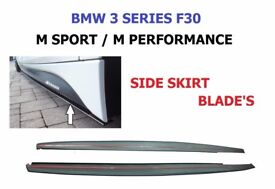 BMW F30 F31 3 SERIES M SPORT PERFORMANCE - STYLE. SIDE SKIRT EXTENSION BLADES