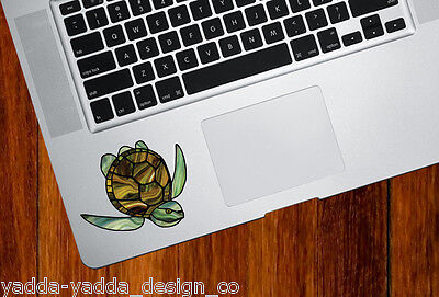 CLR:TP Sea Turtle Stained Glass Style Trackpad Decal -