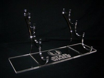 4 tier acrylic display stand for 1:1 scale Star Wars lightsabers prop replicas