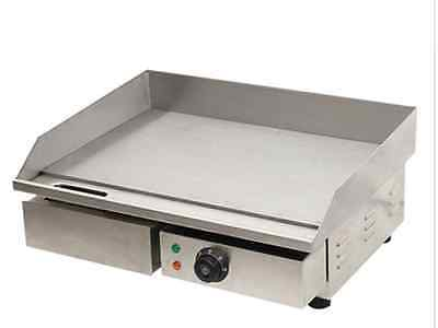 3kw 55cm Electric Griddle Grill Hot Plate Stainless Steel Commercial Bbq Grill J