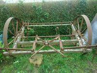 Old fashioned seed drill