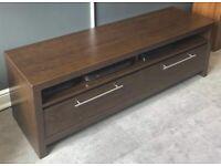 TV unit - Walnut style/colour (dark brown). Original manufacturer - NEXT