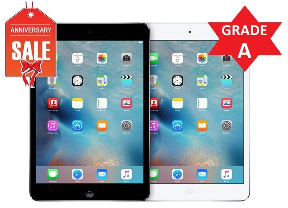 Apple iPad mini 2 16GB 32GB 64GB Wi-Fi, 7.9in Retina - Space Gray Silver (R)