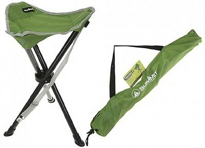 Summit Strong Camping Fishing Folding Travel Tripod Stool Chair Seat Carry Bag