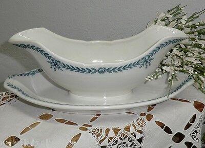 N1352 Villeroy&Boch Edi Sauciere Keramik alt Shabby Chic Brocante Jugendstil V&B