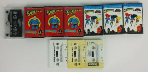 DC Comics Superman And Batman Radio Show Audio Cassette Tapes Tested Lot Of 10