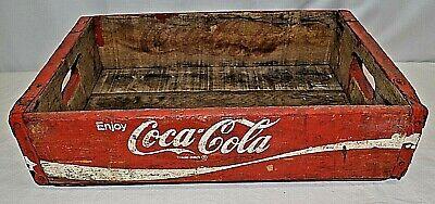 Vintage Enjoy Coca Cola Red Wood Crate