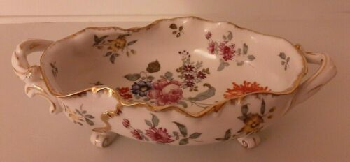 Voigt Sitzendorf Dresden Footed Small Oval Center Bowl 1884-1890