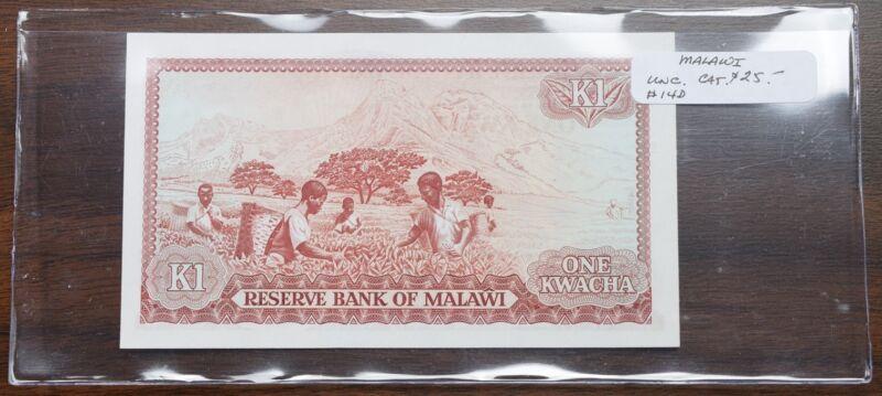 Malawi $1 Kwacha Note - UNC - CAT $125