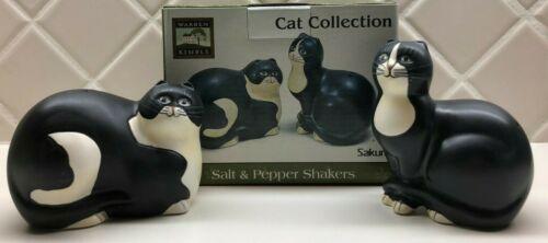 SALT & PEPPER SHAKERS Cat Collection SAKURA Warren Kimble SL951/12 Factory Flaw