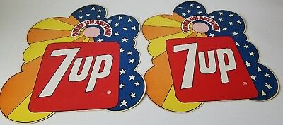 Vintage Peter Max Inspired Psychedelic 1960's Original 7UP Adhesive VendingDecal