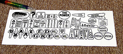 ADDAMS Family Pinball Machine Insert Decal Set