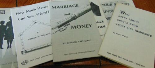 New York Life Insurance Company 7 Advertising Pamphlets 1963-65