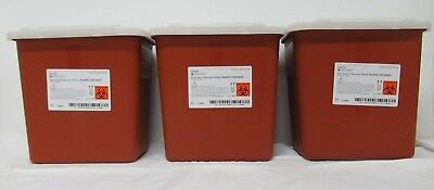 3 Pack 2 Gallon Sharps Multi Needle Disposal Container Slide Lid Doctor Tattoo