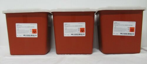 3 PACK! 2 Gallon Sharps Multi Needle Disposal Container Slide Lid doctor tattoo