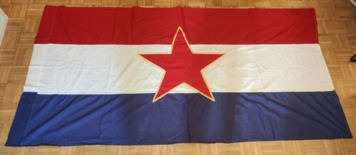 ORIGINAL SFRJ CROATIA YUGOSLAVIA FLAG DOUBLE SIDED JNA 1970s