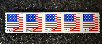 2018Usa  5261 Forever U S  Flag Us   Pnc Plate Number   B111  Coil Strip 5  Bca