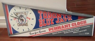 1992 Toronto Blue Jays World Champions Pennant Style Wall Clock New Blue Jays Wall Clock