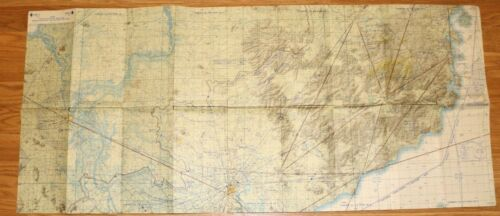 1968 DOD Special Southeast Asia Tactical Vietnam VFR Chart Map (Two sided)