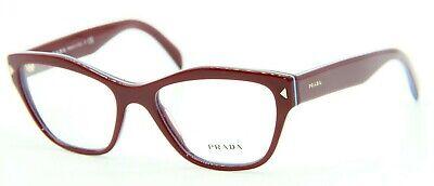 PRADA VPR 27S UF9-1O1 BURGUNDY EYEGLASSES AUTHENTIC FRAMES RX VPR27S (Prada Red Eyeglass Frames)