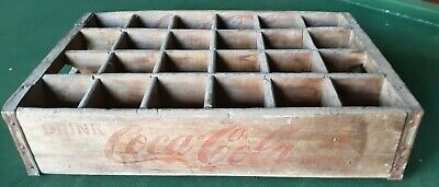 Vintage Coca-Cola Wooden Soda Crate Carrier Box Case Wood Coke Collector