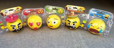 5pc lot emoji character Funny dance BOBBLE HEAD TOY GIFT SOLAR POWER  CAR OFFICE