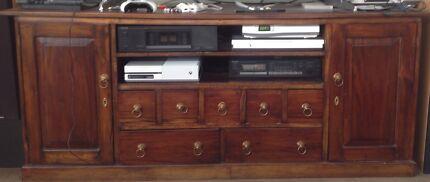Solid mahogany Balinese style TV cabinet