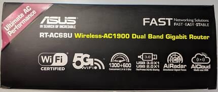 Mint Condition) Asus RT-AC68U Wireless Gigabit Modem/