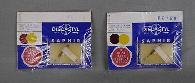 2 x saphirs NOS needles neufs adaptables Perpetuum Ebner PE-188