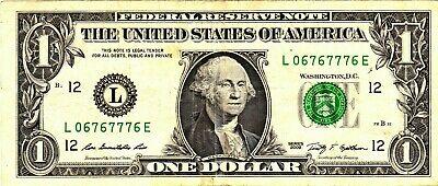 1 2009 Fancy Serial L06767776E - $2.50
