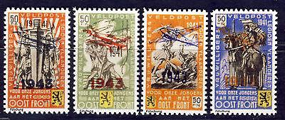 wwII Belgien Flämische Legion 1939-45 Mi. V-VIII gezähnt  REPRINT Fälschung