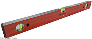 New-Spirit-Level-Ribbed-12-24-36-48-72-Aluminium-Ruler-Builders-Milled-Face