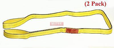 2 Pack 2 X 12 Ft Web Sling Flat Eye Eye 2-ply Tow Strap Lifting 6400 Wll V