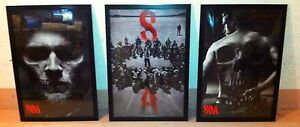 3 x (24x36) Laminated & Framed (Sons Of Anarchy)