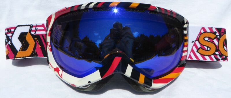 NEW $110 Scott Womens Reply Ladies Pink White mirror lens ski goggles snow Smith