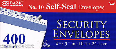 400 Peel Self-seal White Letter Mailing Long Security Envelopes 4-18 X 9-12