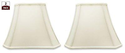 Rectangle Bell (Royal Designs Rectangle Bell Cut Corner Designer Lamp Shade, Set of 2 )
