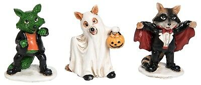 Halloween Costume Dogs Set of 3 small Figurines Adorable Trick or Treat Display](Small Halloween Figurines)